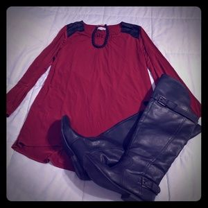 Susan Graver high low tunic top